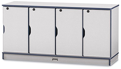 Rainbow Accents 4688JC114 Stacking Lockable Lockers, Single Stack, Orange - Single Stack Lockable Lockers
