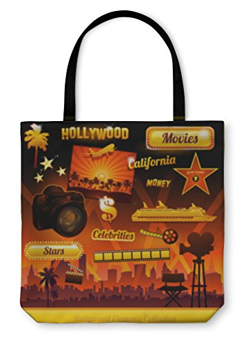 Gear New Shoulder Tote Hand Bag, Hollywood Cinema Movie Elements, 16x16, 5608660GN -