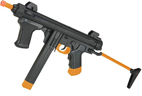 Evike S&T Model 12 Full Metal Airsoft AEG Sub-Machine Gun with Folding Stock - Black -