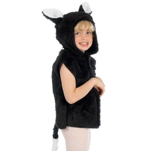Charlie Crow Cat Costume for Kids one Size 3-8 Years Black]()