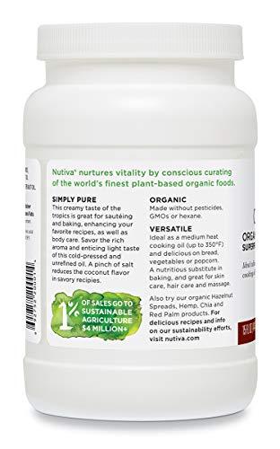Nutiva Organic, Cold-Pressed, Unrefined, Virgin Coconut Oil from Fresh, non-GMO, Sustainably Farmed Coconuts, 15-ounce by Nutiva (Image #4)