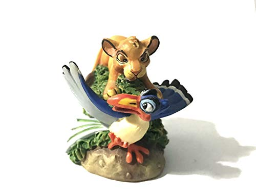 Lenox Disney Magic Thimble Collection Simba & Zazu from The Lion King Figurine - Lenox Walt Disney Showcase