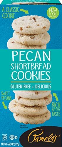 Pamela's Pecan Shortbread Gluten Free Cookies, 6.25 oz boxes, ()