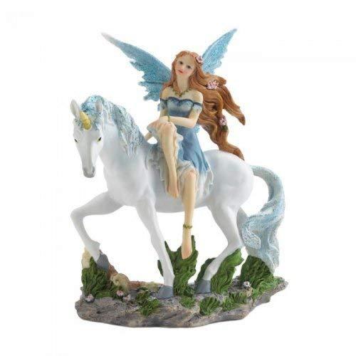 Dragon Crest 10018602 Blue Fairy and Unicorn Figurine Multicolor ()