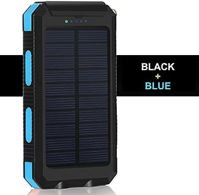 Amazon.com: rictex impermeable cargador solar banco de la ...