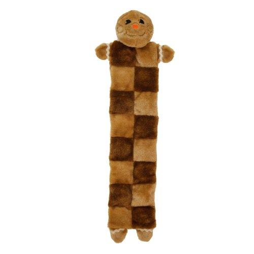 Outward Hound Kyjen  2792 Gingerbread Man Squeaker Mat 16 Squeaker Plush Squeak Toy Dog Toys, Large Brown