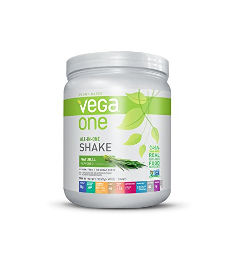 Shake Premium Nutrition (Vega One All-In-One Plant Based Protein Powder, Natural, 0.95 lb, 10 Servings)