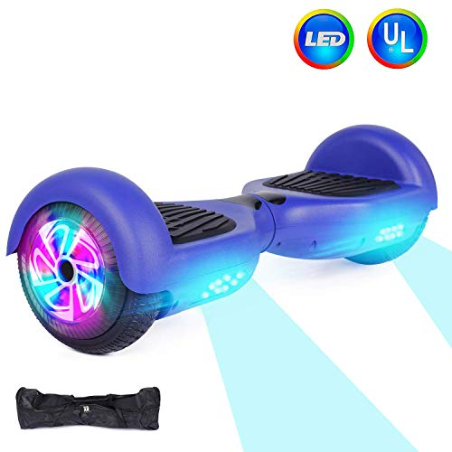 CBD Hoverboard 6.5 Inch Wheels Hoverboard Smart Self Balancing Electric Scooter with Built-in LED Lights UL2272 Certified (Blue)
