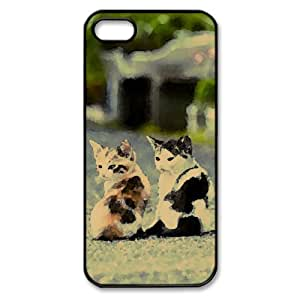 Young Fellows Watercolor style Cover iPhone 5 and 5S Case (Pets Watercolor style Cover iPhone 5 and 5S Case)