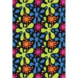 Joy Carpets 446q Multi Neon Lights - Fluorescent Area Rug