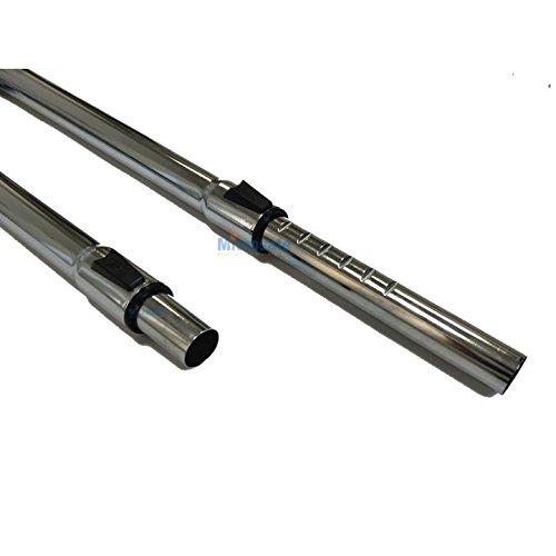 Teleskoprohr passend f/ür Grundig VCC 3650 Bodyguard Staubsaugerrohr 2 x 50cm lang Saugrohr