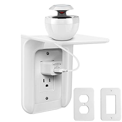 Amazon.com: LEDES Wall Outlet Shelf Power Perch Works with Standard ...