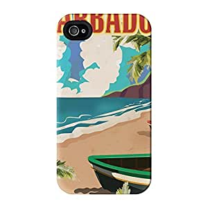 Barbados Full Wrap High Quality 3D Printed Case, Snap-On Cover for iPhone 4 / 4s by Nick Greenaway by mcsharks