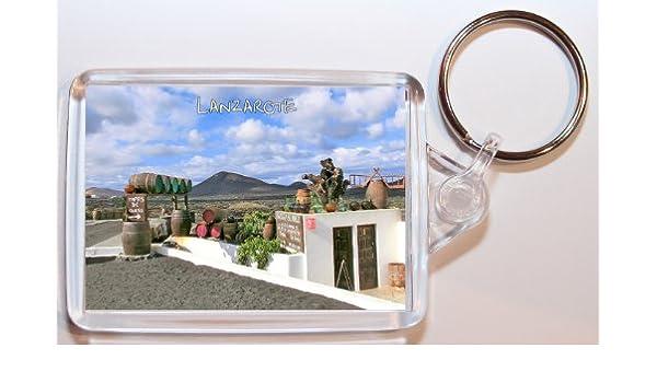 Lanzarote – Islas Canarias – España – doble cara llavero grande regalo/regalo/recuerdo: Amazon.es: Oficina y papelería