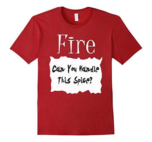 Fire Hot Sauce Costume (Mens Fire Hot Sauce Packet Halloween Costume Taco T-shirt Medium Cranberry)