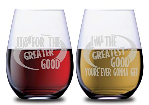 The Incredible Funny Wine Stemless Couples Glasses Great Good Ever Gonna Have Set of 2 Dishwasher Safe, 18oz, by Smoochies | Couples, Anniversary, Home Date Night, Wife Husband, Incredibles Inspired