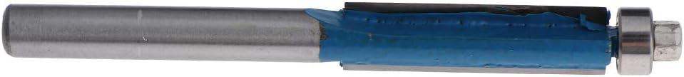 B Blesiya 3 Lotes Punta De Metal 6mm V/ástago Flush Trim Router Bit Fresa Accs Blue
