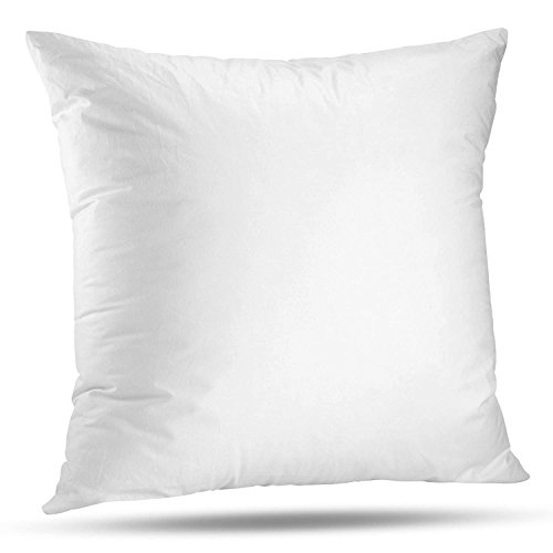 LuxyFluff Faux Down, Synthetic Down, Square Decorative Throw Pillow Insert, Sham Stuffer, 18