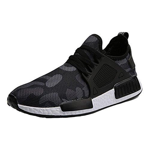 Hommes Sport Chaussures Sneakers Ultra Léger Courir Hommes Formation Sport Sneakers avec Dentelle Armée Vert Sneaker Camouflage Chaussures