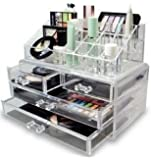 ShopAIS Acrylic Clear Cosmetic Case
