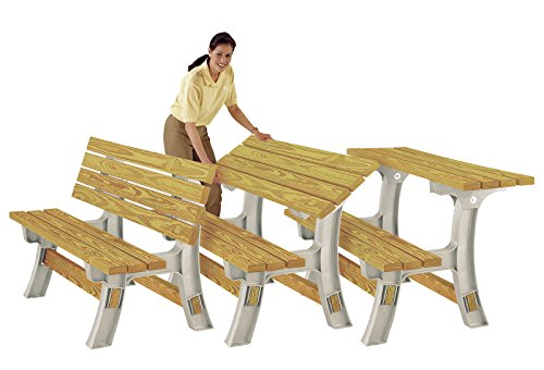 2x4 Basics Flip Top Garden Park Picnic Outdoor Bench Table Kit