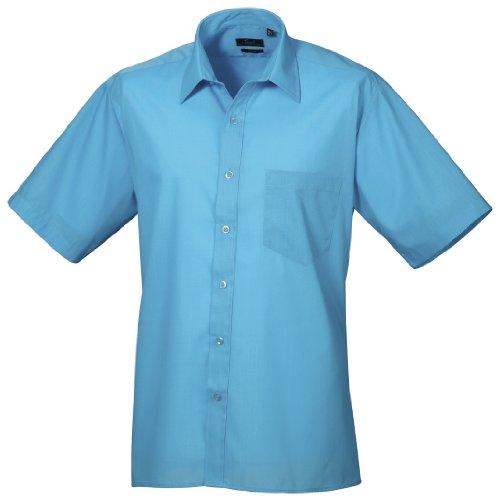 Turquoise Courtes Manches Chemise Premier À Homme wgqWZX7Xp8
