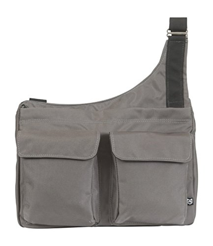 Charcoal and Berry Ode Nylon LDS Messenger Bag (Fully Messenger Lined Bag)