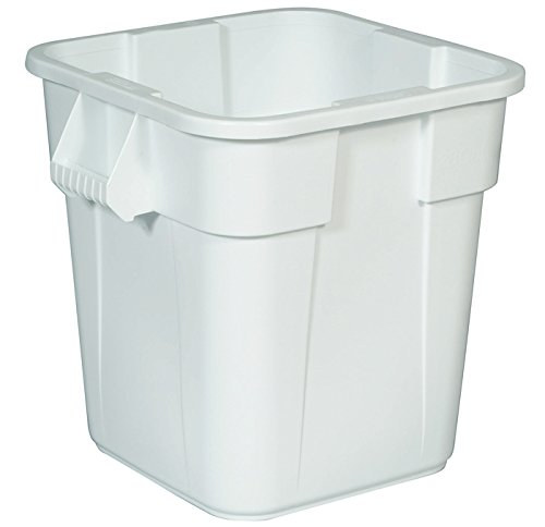 (Rubbermaid Commercial Products BRUTE Square Bin Storage Container without Lid, 40-Gallon, White (FG353600WHT))