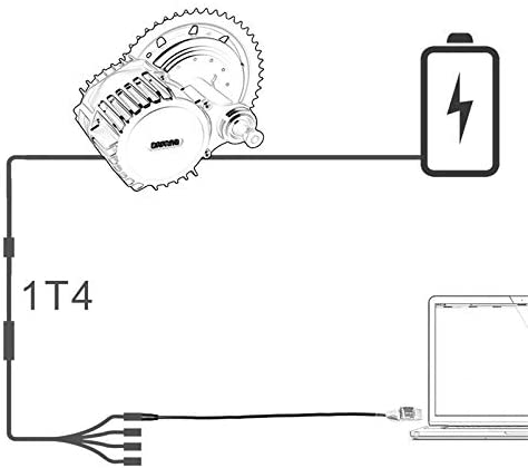 Bafang Bbs01 Bbs02 Bbs03 Bbshd Milieu Conduire//Centre Moteur de V/élo /électrique Cable Programm/é Senmubery Cable de Programmation USB Ebike pour 8Fun