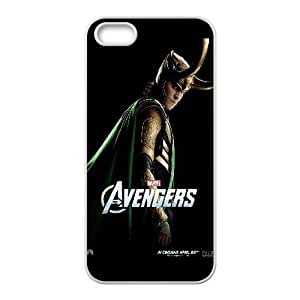 The Avengers Loki iphone 5 5S Cell Phone Case White Phone Accessories JV162847