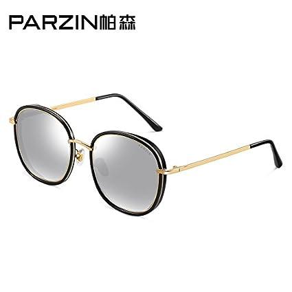 Komny Gafas de sol polarizadas Sra. Moda película Color de bastidor grande Chao gafas rojas