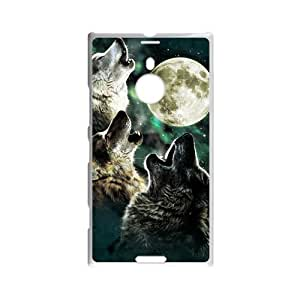 International Cute Printed Howling Wolf Pattern Snap On Back Protector Bark At The Moon Wolf Custom Custom case cover for Nokia Lumia 1520
