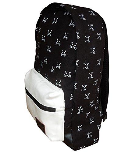 Spice Art - Bolso mochila  para mujer negro Balck