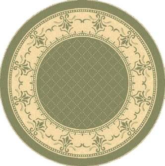- Transitional Rug - Courtyard Polypropylene -Olive/Natural Olive/Natural/Transitional/5'3