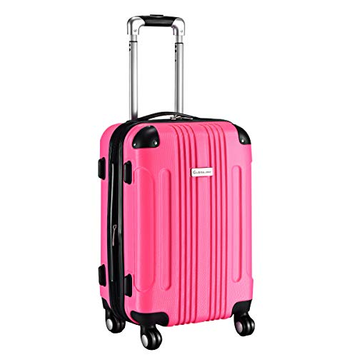 Goplus Carry On Luggage 20-inch ABS Expandable Hardside Travel Bag Trolley Suitcase GLOBALWAY (Rose) by Goplus