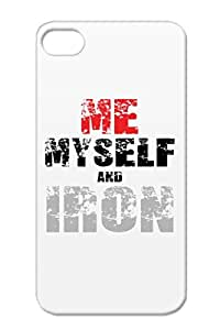 Anti-scratch Silver TPU For Iphone 4 Weight Lifting Miscellaneous Sports Muscle Bodybuilding Exercise Gym Me. Myself Amp Iron Case Cover