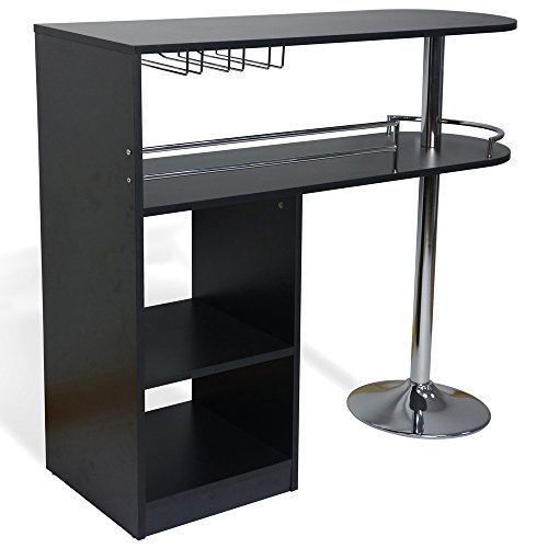 Amazon homegear kitchen cocktail bar table black kitchen amazon homegear kitchen cocktail bar table black kitchen dining watchthetrailerfo