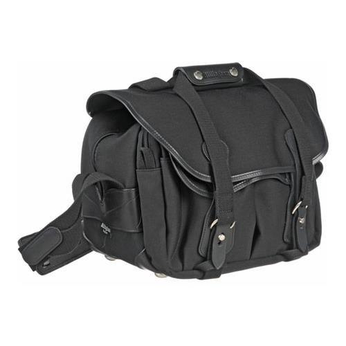 Billingham 225 Shoulder Bag - Black Canvas/Black Leather (225 Leather)