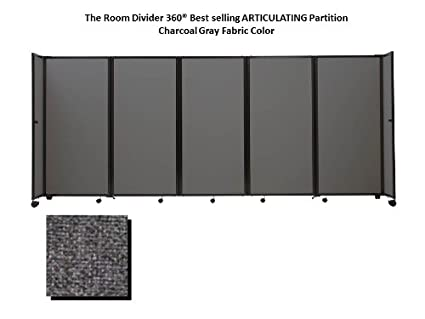 Amazoncom Room Divider 360 Portable Partition Charcoal Gray