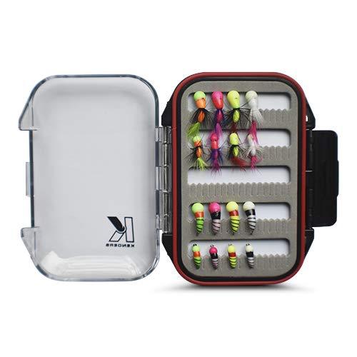 Kenders 16 Piece Tungsten Ice Fishing Akua Jig Series Kit with Premium Box (Tungsten Ice Fishing Jigs Pack)