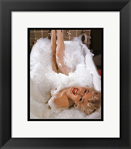 FRAMES PRINT 11 X 14 Marilyn Monroe Bubble Bath In Tub Naked