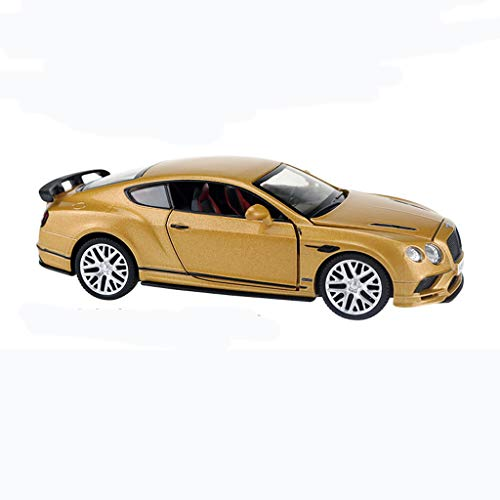 GAOQUN-TOY Alloy Car Model 1:32 Bentley Continental Coupe Sound and Light Pull Back Can Open The Door Boy Puzzle Car (Color : Gold) (Bentley Coupe Continental)