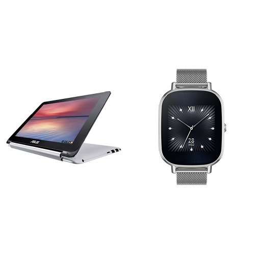 ASUS C100PA-DB02 10.1-inch Touch Chromebook and Zenwatch