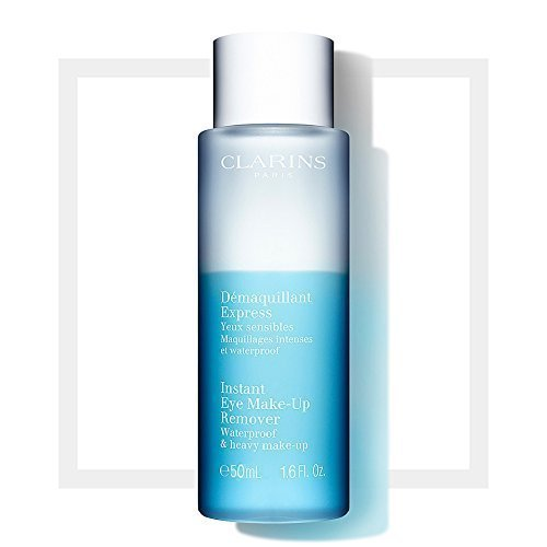 Clarins Instant Eye Make Up Remover for Waterproof and Heavy Make Up Travel Size - Set of 3, 1.6 Fluid Ounce Bottles - Total 4.8 Ounces 41iTYIAlZ0L