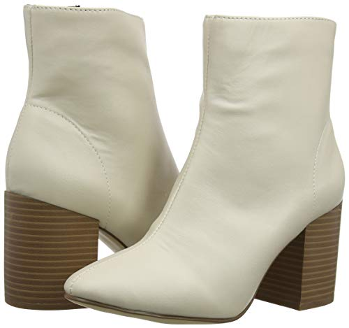 Zapatos Tobillo Look 12 Albert De Correa Con Para Mujer off White Tacon Marfil Y New 8xqwEd8
