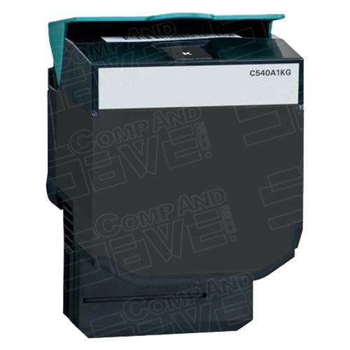X543dn Color Laser - CompAndSave Replacement for Lexmark C540H2KG High Yield Black Laser Toner Cartridge