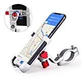 HOMEASY Universal Bike Phone Mount Motorcycle Handlebar Cellphone Bicycle Holder Adjustable, Fits iPhone Xs|XS Max, XR, X, 8 | 8 Plus, Galaxy S9, Holds Phones from 3.5-7″ Wide【Fall Prevention】