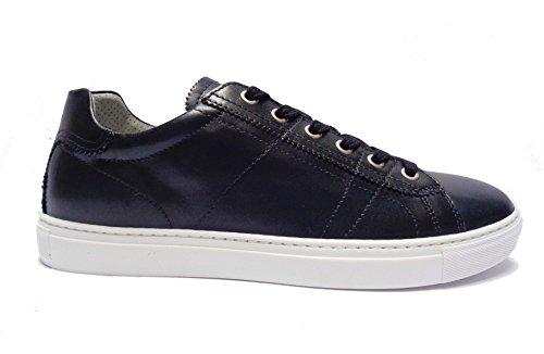43 280 Uomo Giardini Casual Blu Scarpe Sneakers Da Nero Pelle Num In pPfwqxT
