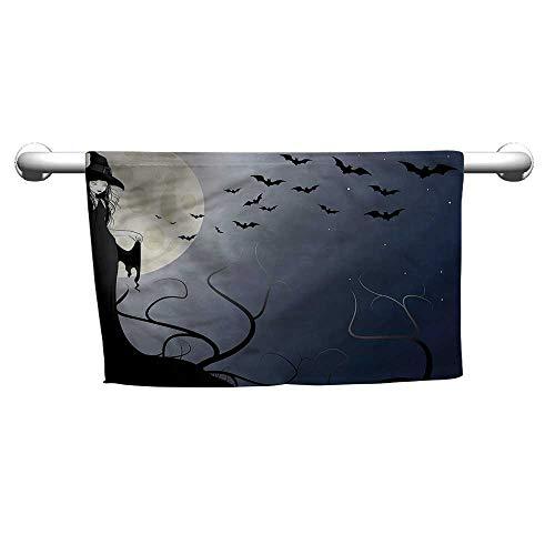 alisoso Halloween,Sweat Towel Witch in Twilight on High W 10
