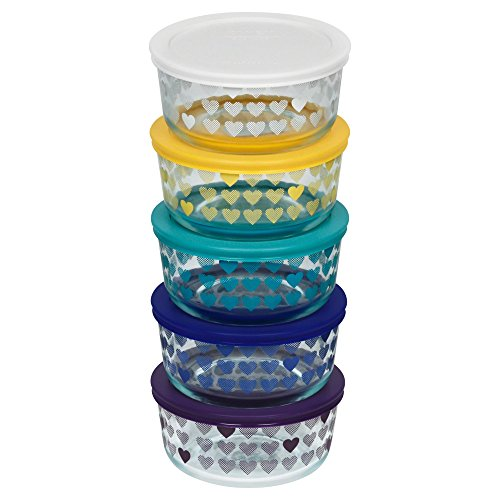 pyrex-10-pc-hearts-decorated-storage-set-clear